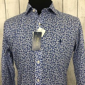 Polo Ralph Lauren L Blue Floral Button-Front Shirt